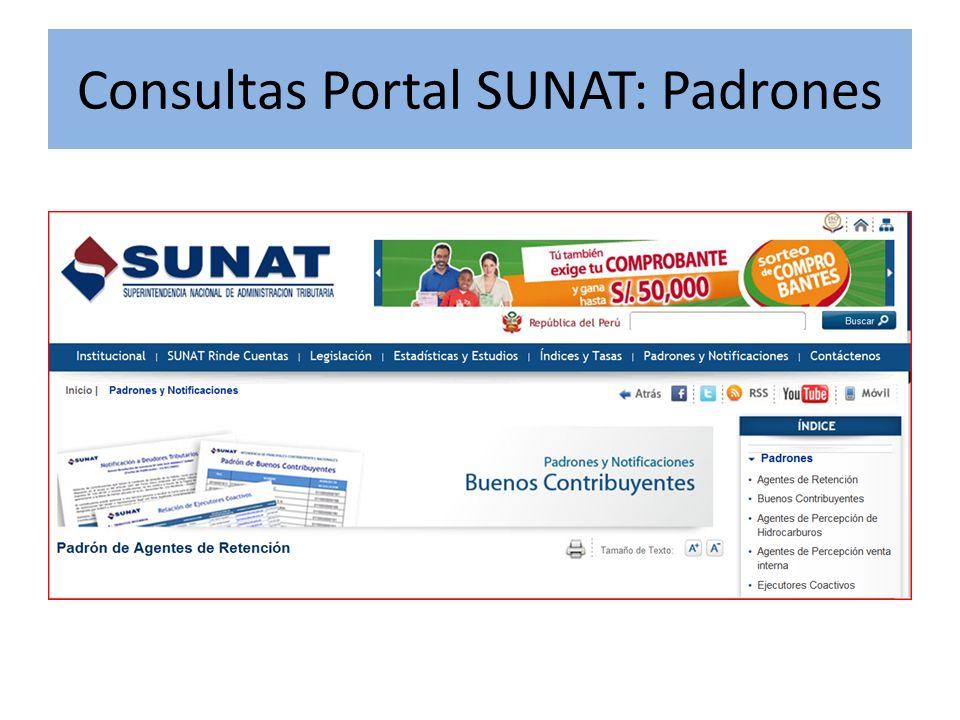 Consultas Portal SUNAT: Padrones
