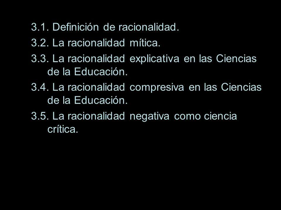 TEMA III: Ciencia de la educación y tipos de racionalidad EPISTEMOLOGÍA Y EDUCACIÓN Saber actuar racional (conforme a planes) y razonablemente (conforme a normas) para el logro de la intencionalidad educativa, es lo que caracteriza al saber pedagógico de otros tipos de conocimiento.(60) El conocimiento pedagógico halla en la racionalidad práctica una de las bases que legitiman su racionalidad.(61)