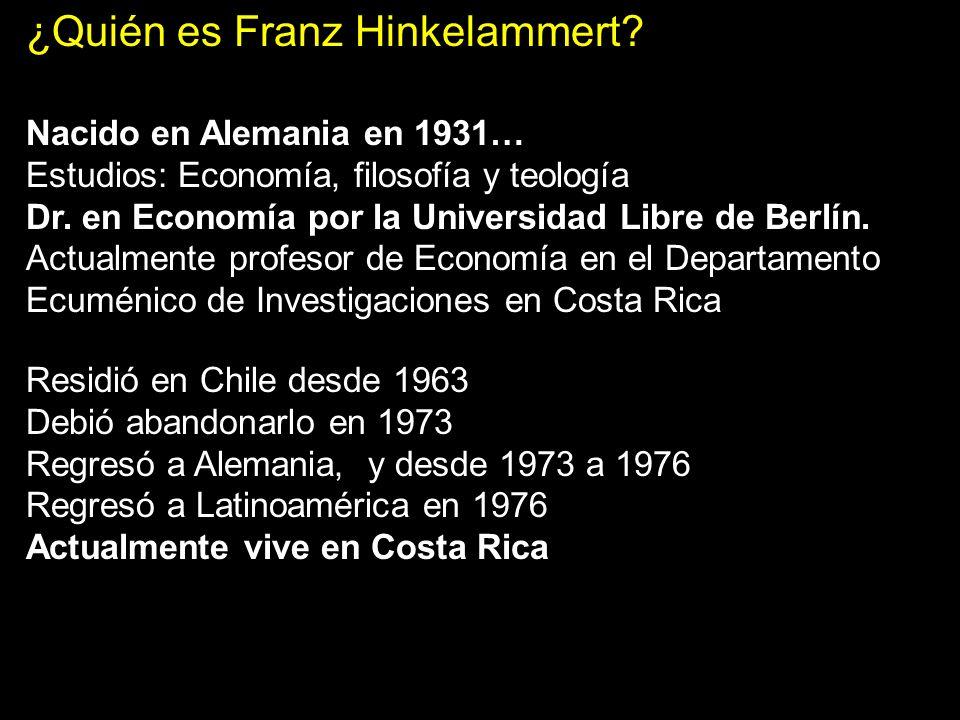 TEMA I: Los Principios de la Epistemología EPISTEMOLOGÍA Y EDUCACIÓN Link Hinkelammert http://www.filonenos.org/utopia/utopia12/PDF/Estela% 20F.pdf http://www.uca.edu.sv/facultad/chn/c1170/hinkelammert_alternativas.html