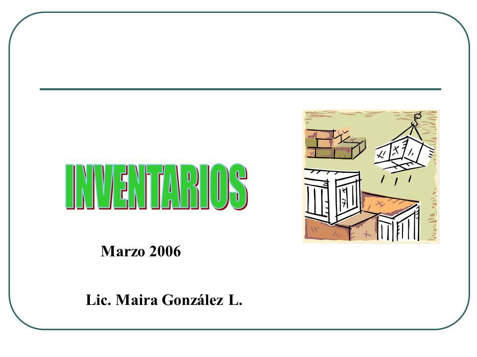 Marzo 2006 Lic. Maira González L.