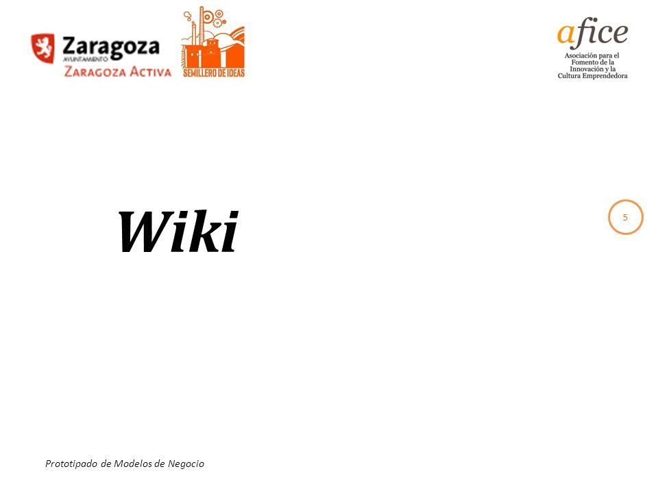 5 Prototipado de Modelos de Negocio Wiki