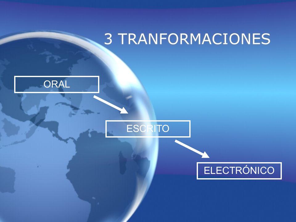 3 TRANFORMACIONES ORAL ESCRITO ELECTRÓNICO