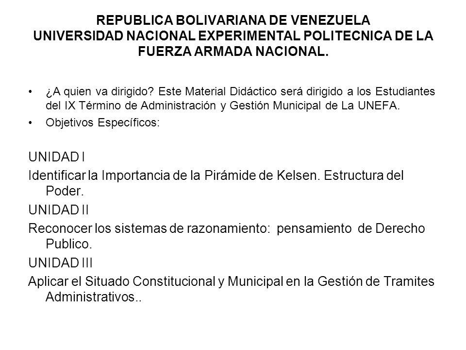 REPUBLICA BOLIVARIANA DE VENEZUELA UNIVERSIDAD NACIONAL EXPERIMENTAL POLITECNICA DE LA FUERZA ARMADA NACIONAL. ¿A quien va dirigido? Este Material Did