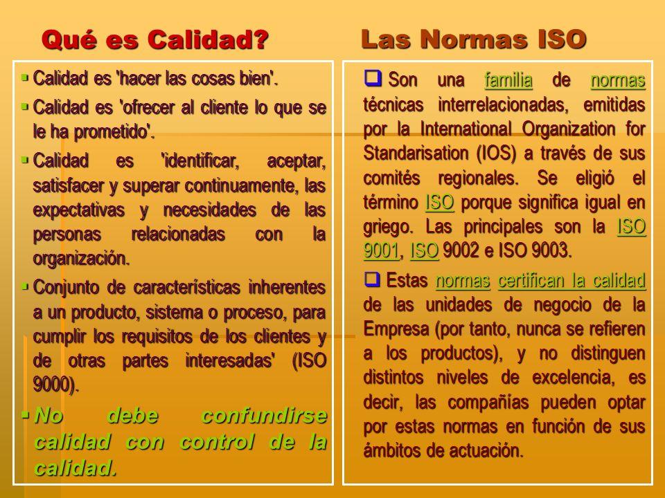 Las Normas ISO Son una familia de normas técnicas interrelacionadas, emitidas por la International Organization for Standarisation (IOS) a través de s