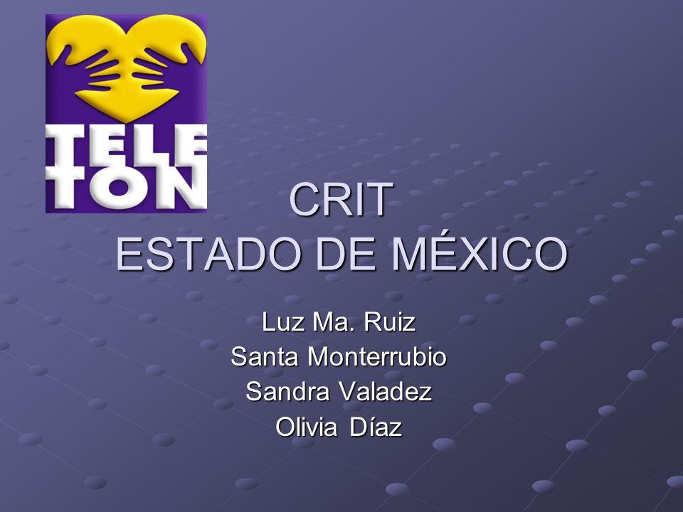 CRIT ESTADO DE MÉXICO Luz Ma. Ruiz Santa Monterrubio Sandra Valadez Olivia Díaz