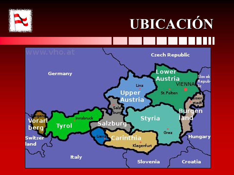 GENERALIDADES DE AUSTRIA Idioma: alemán.Área: 83.871 Km2Idioma: alemán.