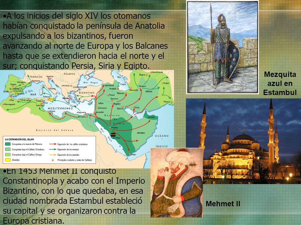 A los inicios del siglo XIV los otomanos habían conquistado la península de Anatolia expulsando a los bizantinos, fueron avanzando al norte de Europa