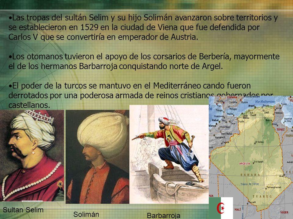 Las tropas del sultán Selim y su hijo Solimán avanzaron sobre territorios y se establecieron en 1529 en la ciudad de Viena que fue defendida por Carlo