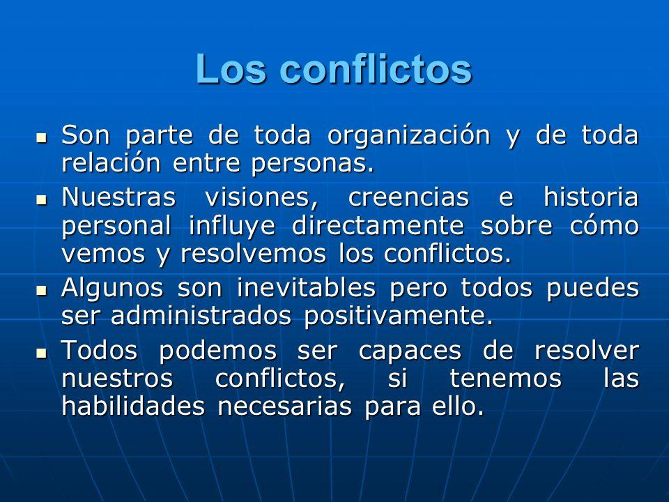 Los conflictos Son parte de toda organización y de toda relación entre personas. Son parte de toda organización y de toda relación entre personas. Nue