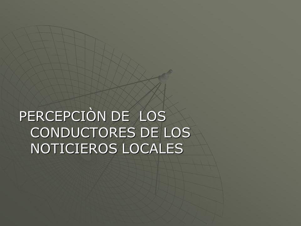 PERCEPCIÒN DE LOS CONDUCTORES DE LOS NOTICIEROS LOCALES