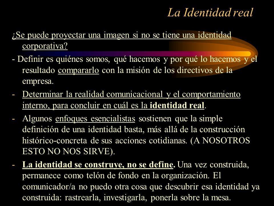 La Identidad real ¿Se puede proyectar una imagen si no se tiene una identidad corporativa? - Definir es quiénes somos, qué hacemos y por qué lo hacemo