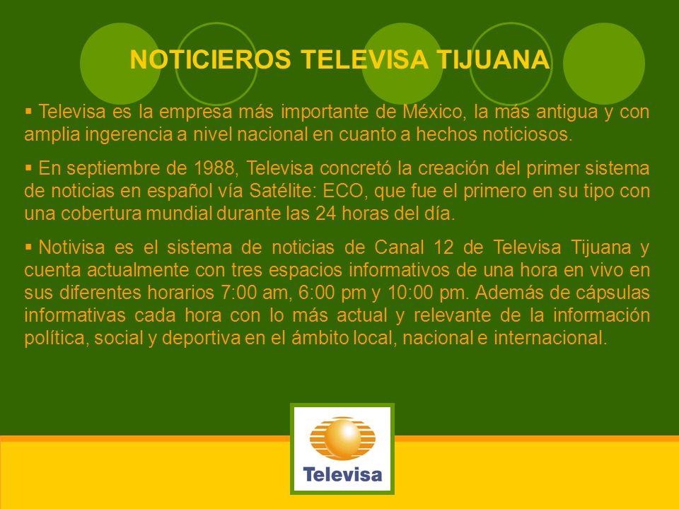 Televisa es la empresa más importante de México, la más antigua y con amplia ingerencia a nivel nacional en cuanto a hechos noticiosos. En septiembre
