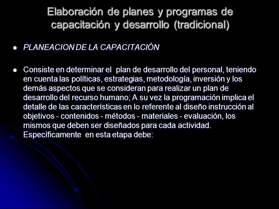 PLANEACION DE LA CAPACITACIÓN PLANEACION DE LA CAPACITACIÓN Consiste en determinar el plan de desarrollo del personal, teniendo en cuenta las política