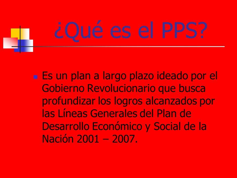¿Qué es el PPS? Es un plan a largo plazo ideado por el Gobierno Revolucionario que busca profundizar los logros alcanzados por las Líneas Generales de