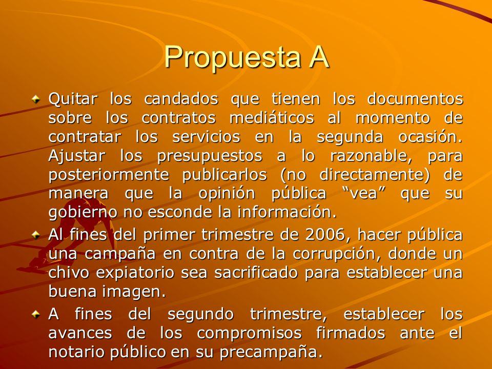 Propuesta A Quitar los candados que tienen los documentos sobre los contratos mediáticos al momento de contratar los servicios en la segunda ocasión.
