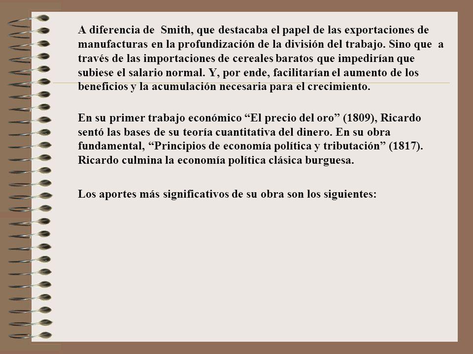 Análisis de la Renta de la Tierra Para Ricardo no todos los terrenos rentan; al principio, cuando había suficiente extensión de suelo cultivable, la renta de la tierra No Existía.