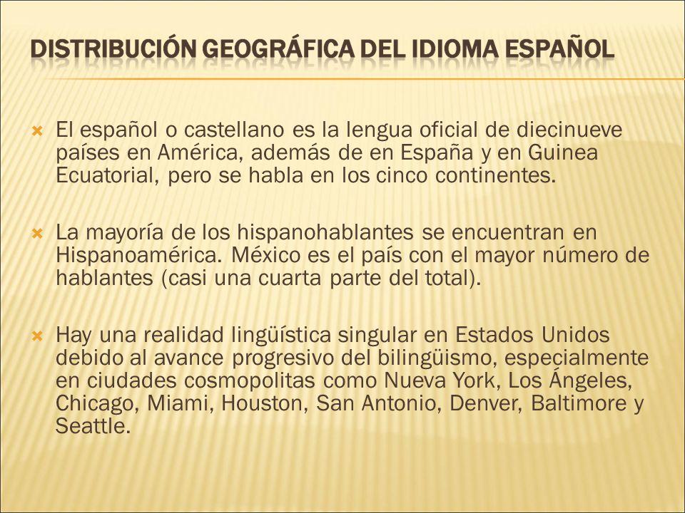 En el estado de Nuevo México, el español se utiliza incluso en la administración estatal, aunque ese estado no tiene ninguna lengua oficial establecida en la constitución.