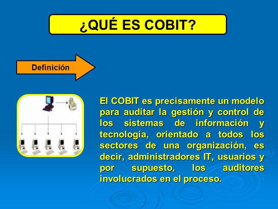 Las siglas COBIT significan Objetivos de Control para Tecnología de Información y Tecnologías relacionadas.