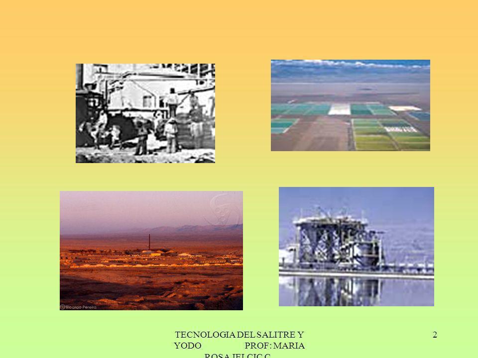 3 1.1 INTRODUCCION La explotación del salitre -nitrato de sodio o azoe- se inició por 1810.