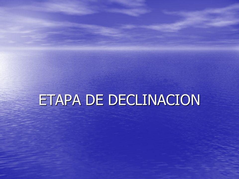 ETAPA DE DECLINACION