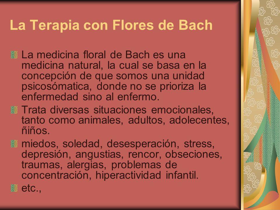 Para qué sirven las flores de Bach.