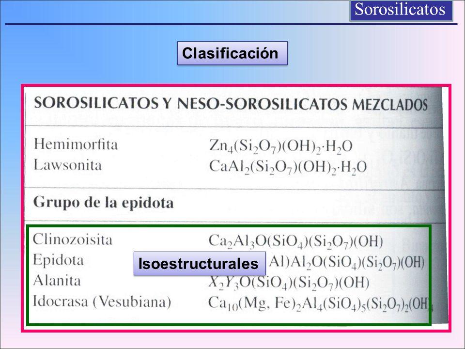 Sorosilicatos Clasificación Isoestructurales