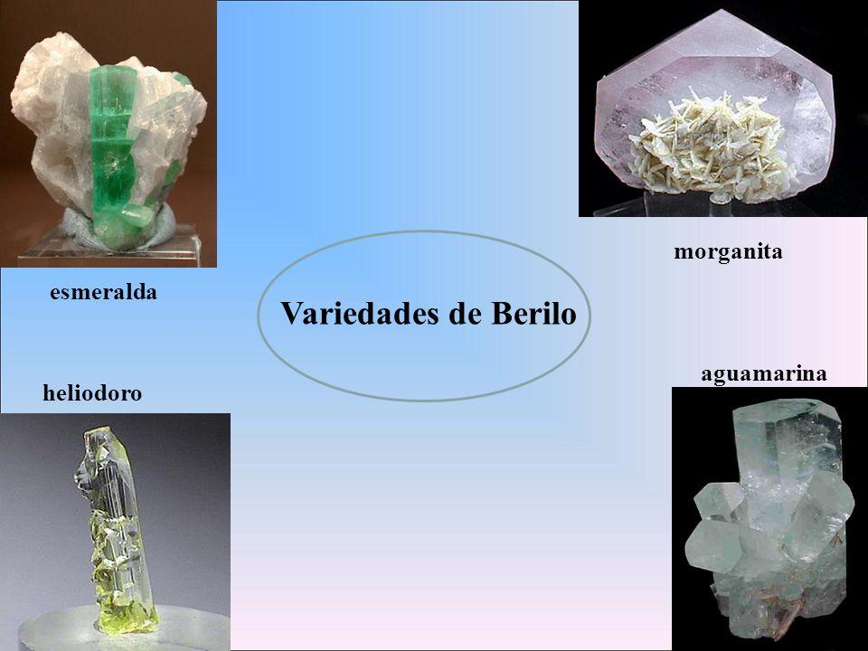 Variedades de Berilo esmeralda aguamarina morganita heliodoro