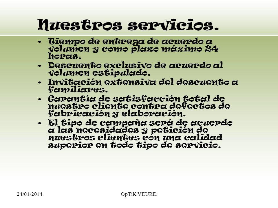 24/01/2014OpTiK VEURE.Nuestros productos. Armazones nacionales e importados.