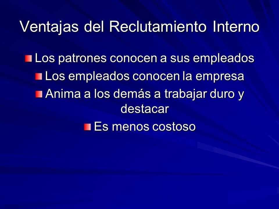 Fuentes del Reclutamiento Externo.