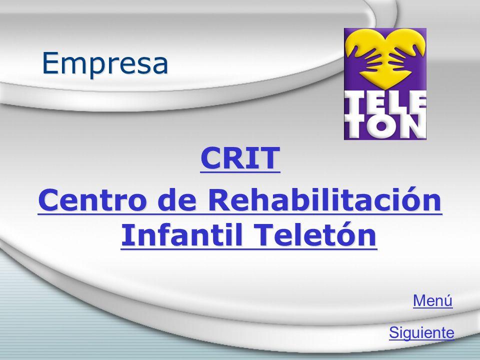 Empresa CRIT Centro de Rehabilitación Infantil Teletón CRIT Centro de Rehabilitación Infantil Teletón Menú Siguiente