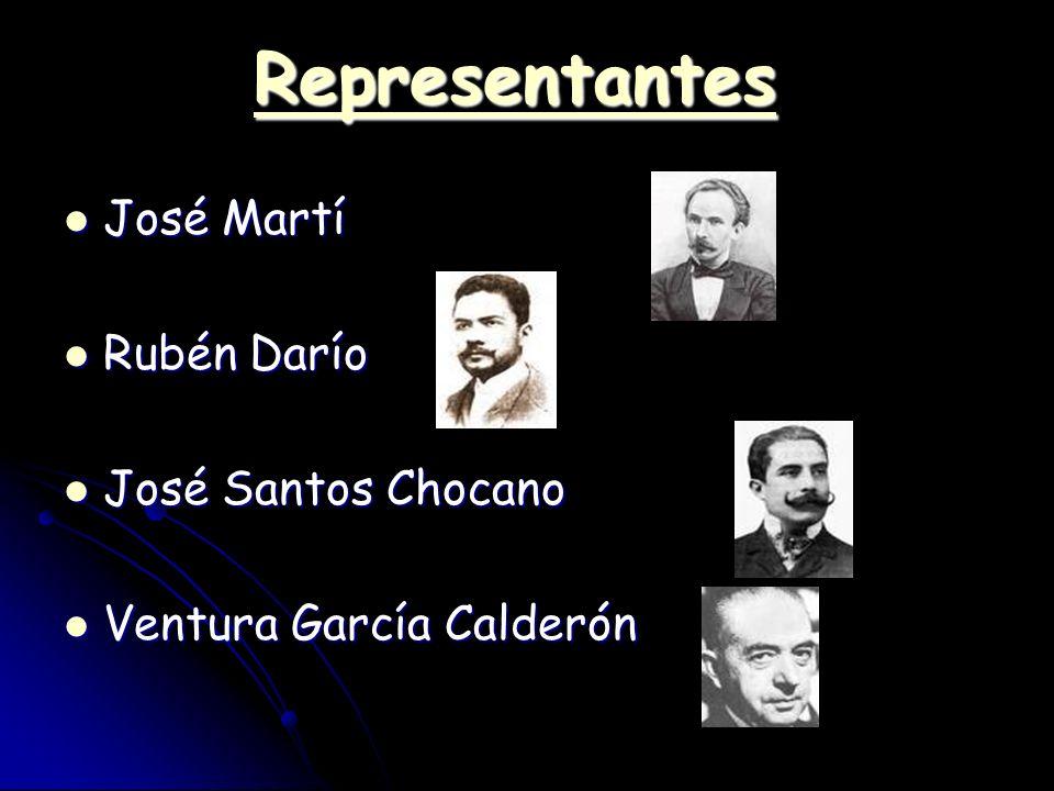 RRRR eeee pppp rrrr eeee ssss eeee nnnn tttt aaaa nnnn tttt eeee ssss José Martí José Martí Rubén Darío Rubén Darío José Santos Chocano José Santos Ch