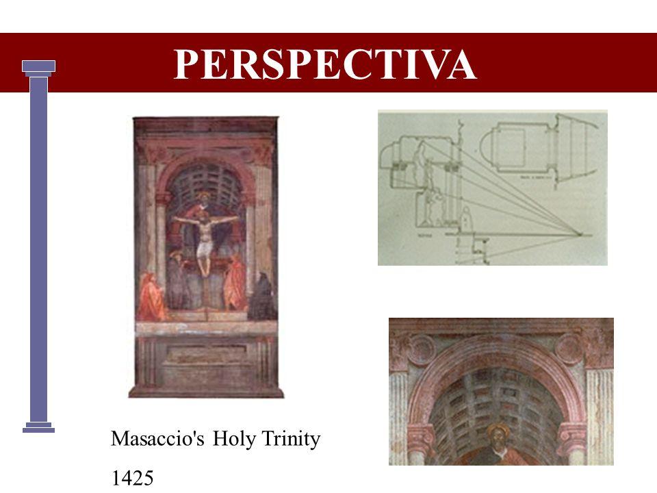 Masaccio's Holy Trinity 1425 PERSPECTIVA