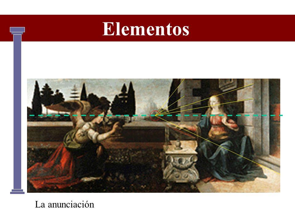 La anunciación Elementos