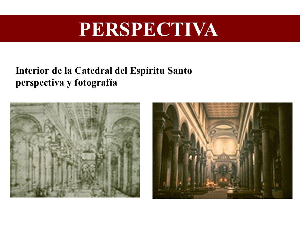 Interior de la Catedral del Espíritu Santo perspectiva y fotografía PERSPECTIVA