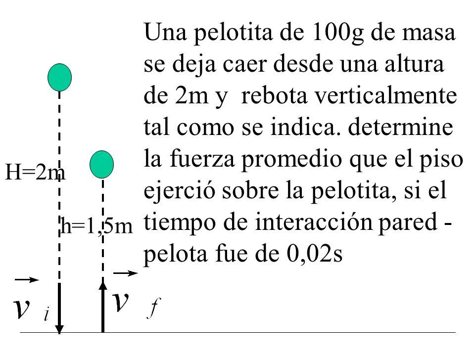 Es conveniente definir una fuerza promedio como: Por lo tanto el impulso también se puede expresar como: