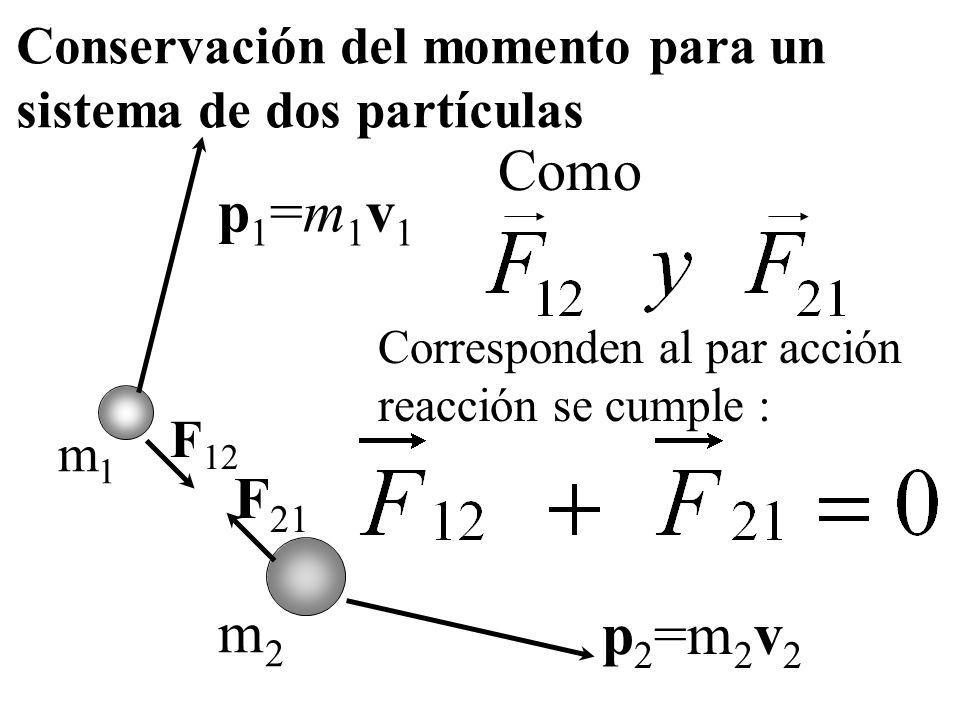 En los choques la cantidad de movimiento lineal del sistema siempre se conserva, pues las fuerzas externas, de existir, se desprecian frente a las int