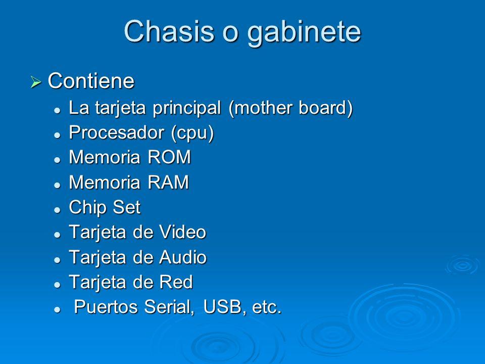 EL HARDWARE Son los elementos físicos de la computadora que puedes toca (teclado monitor, bocinas, impresora, escáner, etc.), aunque algunos no los puedes ver porque están dentro del gabinete o chasis de la computadora (microprocesador, disco duro, memoria RAM, entre otros).