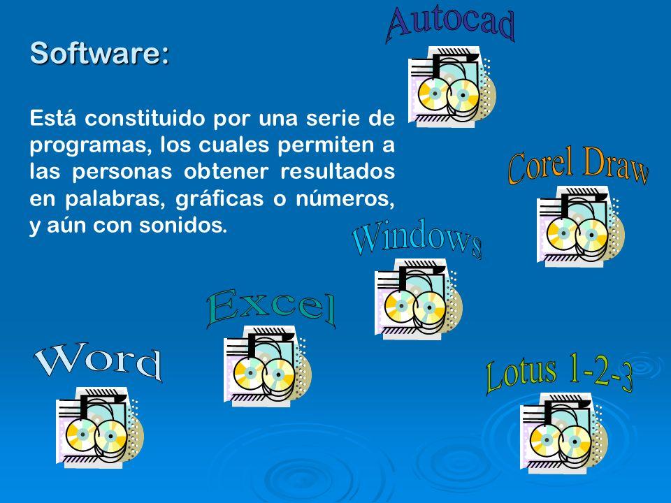 Otros tipos de Software De aplicación De aplicación Gratuito Gratuito Diseño Diseño Libre Libre Propietario Propietario Educativo Educativo Tutorial Tutorial Red Red etc-.