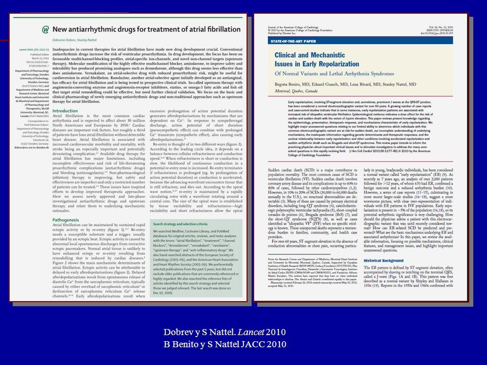 Update 2011 Fuengirola, Málaga Dobrev y S Nattel. Lancet 2010 B Benito y S Nattel JACC 2010