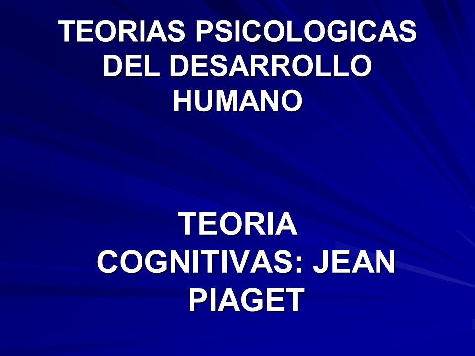 TEORIAS PSICOLOGICAS DEL DESARROLLO HUMANO TEORIA COGNITIVAS: JEAN PIAGET
