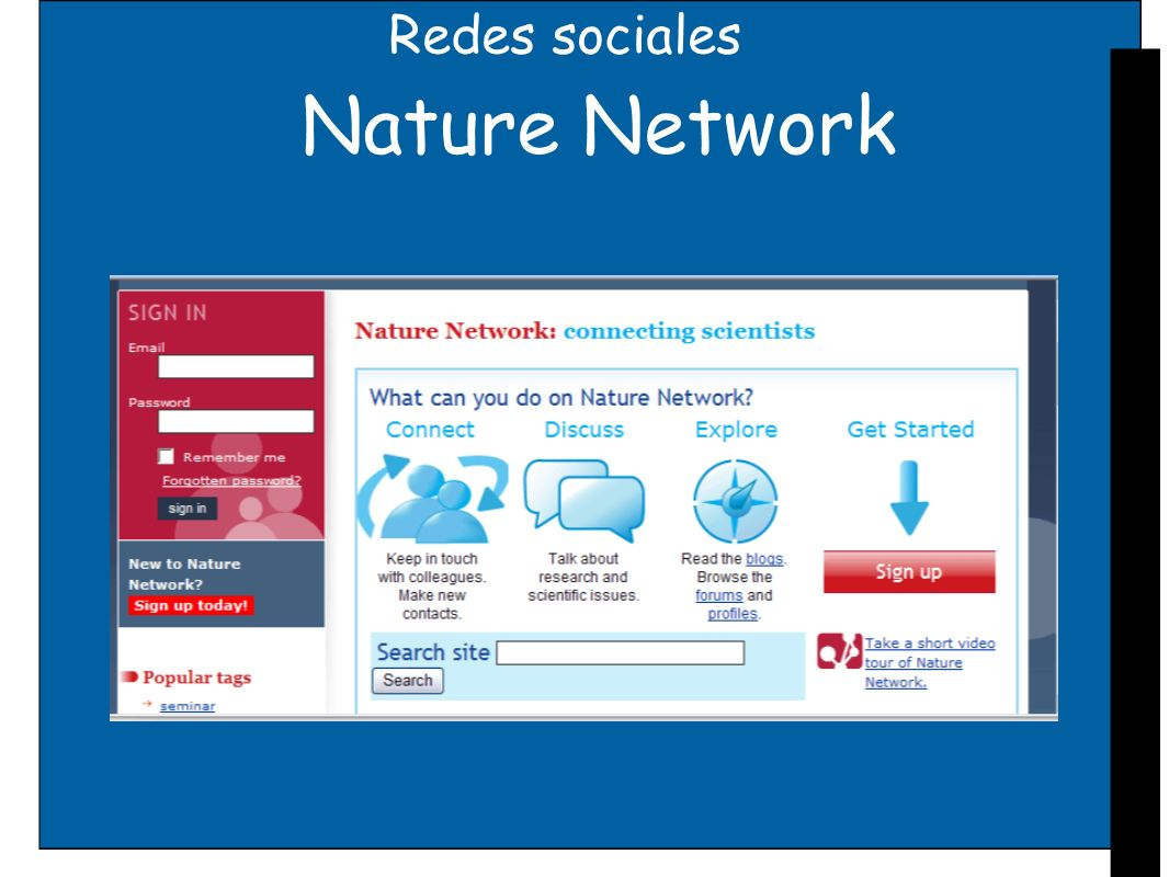Redes sociales Nature Network
