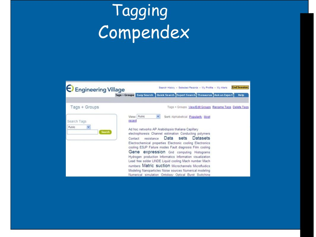 Tagging Compendex