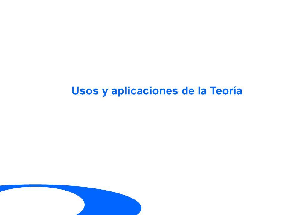 Usos y aplicaciones de la Teoría