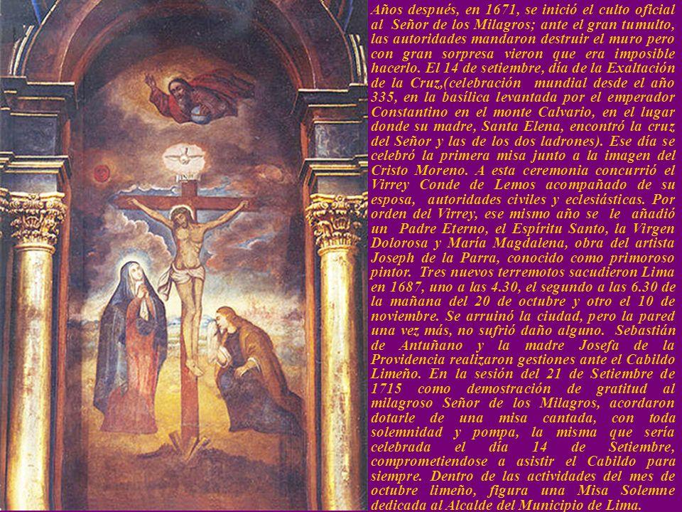 Historia del Señor Historia del Señor Cerca del año 1651 un negro de Angola llamado Benito, pintó en la pared de un galpón la imagen de Cristo Crucifi