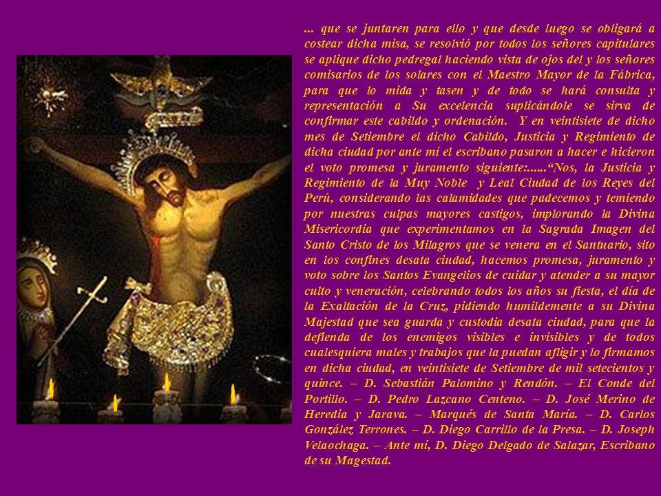 PATRON JURADO DE LA CIUDAD EL CABILDO Este documento merece conocerse, porque es el primer homenaje tributado por la ciudad al que había de ser su Pat