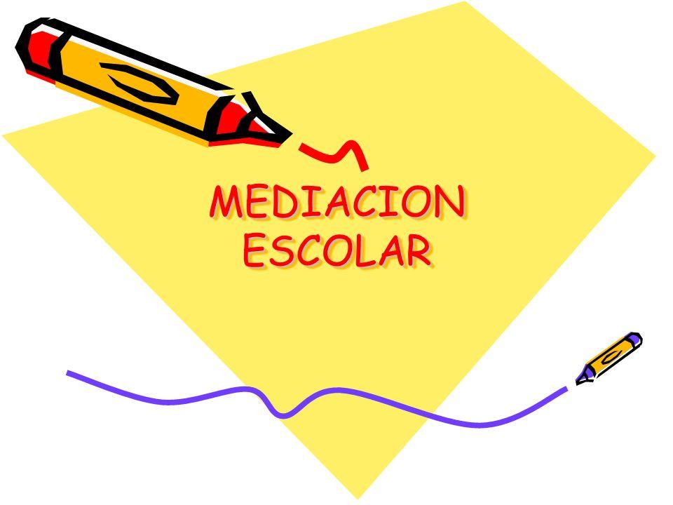 Programas de mediación educativa Mediación entre pares: Alumnos/a- alumno/a Mediación entre dos partes (no pares) en conflicto: Padres-Hijos, Profesores –padres, Profesores- Alumnos
