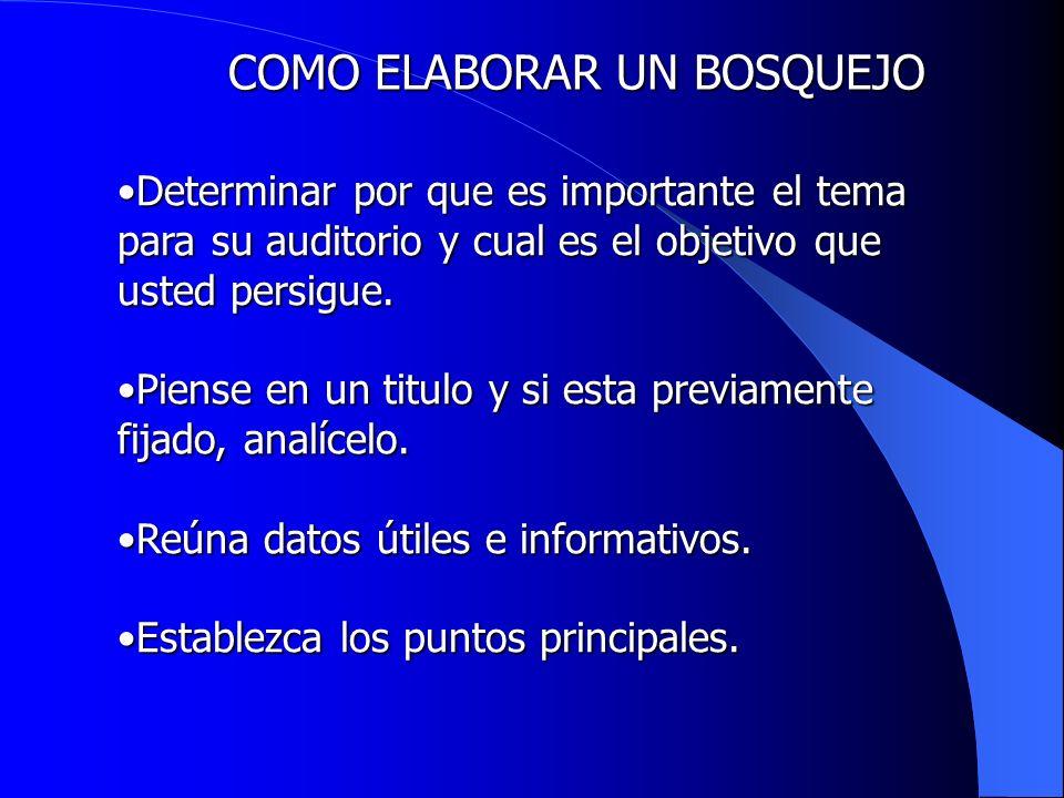Estructure la información; utilice solo lo mas pertinente.Estructure la información; utilice solo lo mas pertinente.
