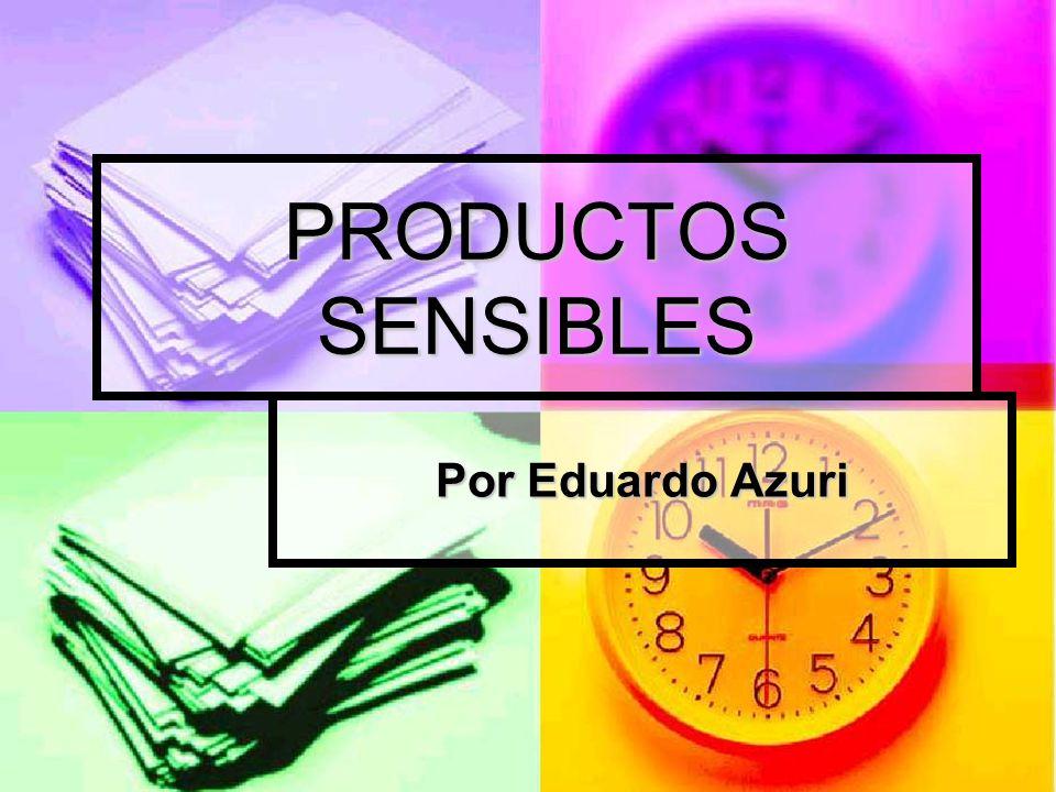 Esto implica una revisión teórico práctica que parte del reconocimiento de un aspecto clave de los productos sensibles.