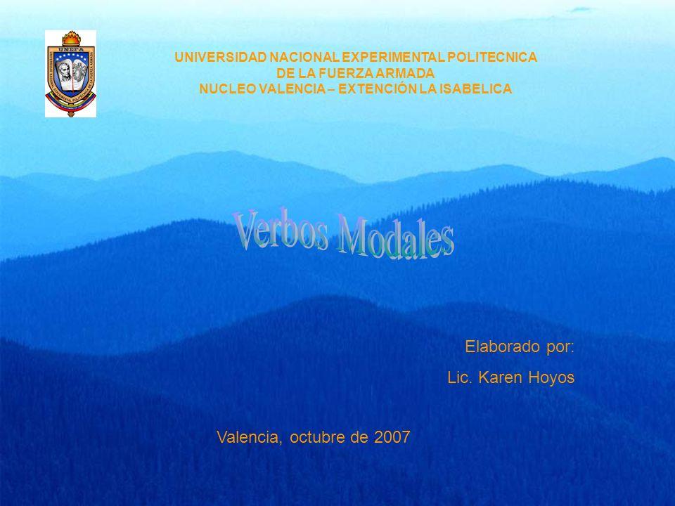 UNIVERSIDAD NACIONAL EXPERIMENTAL POLITECNICA DE LA FUERZA ARMADA NUCLEO VALENCIA – EXTENCIÓN LA ISABELICA Elaborado por: Lic. Karen Hoyos Valencia, o