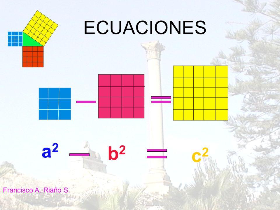 a2a2 c2c2 b2b2 ECUACIONES Francisco A. Riaño S.